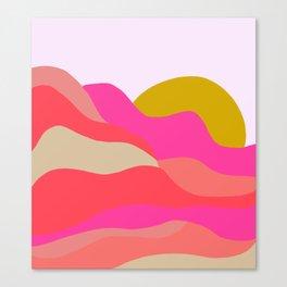 Adelaida, mountain sunset Canvas Print