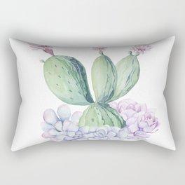 In Love Rose Cactus + Succulents Rectangular Pillow
