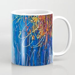 Impressionist Autumn -  ( inspired by Pollock ) Coffee Mug