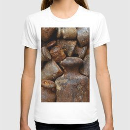 Very old and rusty weights for scales T-shirt