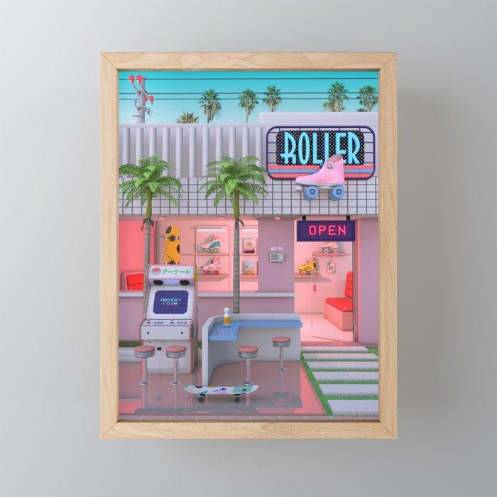Roller Skate Nostalgia Framed Mini Art Print