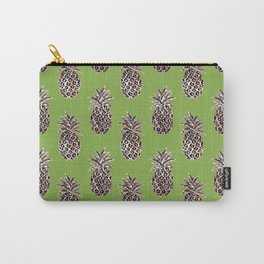 Greenery inspo + gold pineapples Carry-All Pouch