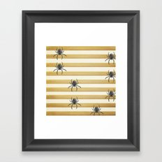 Descending Spiders Framed Art Print