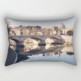 Reflections of Rome in the Tiber Rectangular Pillow