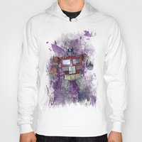 optimus prime Hoodies featuring G1 - Optimus Prime by DesignLawrence