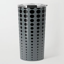 Reduced Black Polka Dots Pattern on PPG's Night Watch Pewter Green Color Background Travel Mug