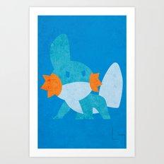 Mudkip Art Print