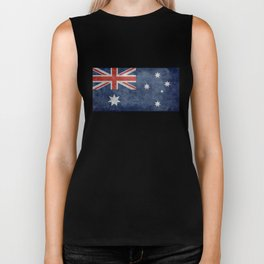 The National flag of Australia, Vintage version Biker Tank