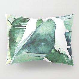Tropical Banana Leaves Pillow Sham