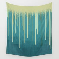 pool Wall Tapestries featuring DROPS / pool by DANIEL COULMANN