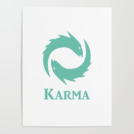 Karma Icon League of Legends Poster