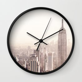 New York City Above the Cityscape Wall Clock