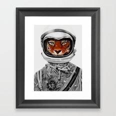 Astro Tiger Framed Art Print