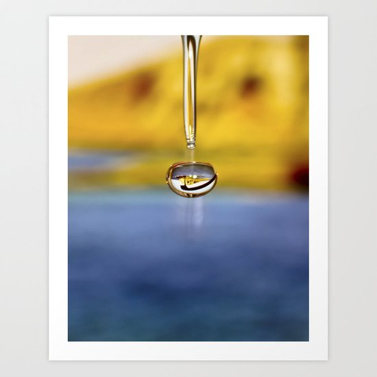 """water drop 3"" Art Print"