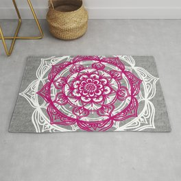 Mandala on Gray Jersey Rug
