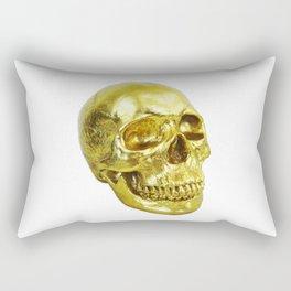 Goldish Skull Rectangular Pillow