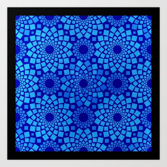 Kaleidoflowers Art Print