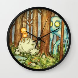 Forest Council Wall Clock
