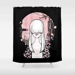 invisible girl Shower Curtain