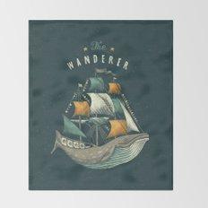 Whale | Petrol Grey Throw Blanket