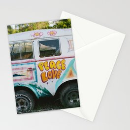 Peace And Love Van Stationery Cards