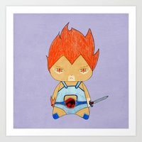 thundercats Art Prints featuring A Boy - Lion-O (Thundercats) by Christophe Chiozzi
