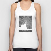 melbourne Tank Tops featuring Melbourne map by Map Map Maps