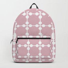 Droplets Pattern - Dusky Pink & White Backpack