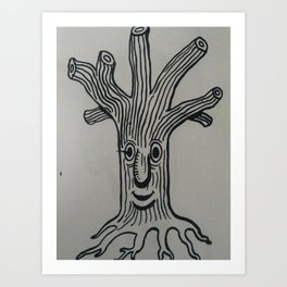 tree boy Art Print
