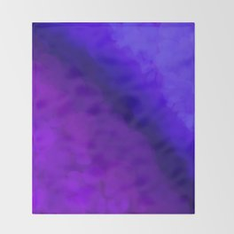 Deep Dark Abyss - Ultra Violet Ombre Abstract Throw Blanket