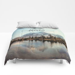 lets go on an adventure Comforters