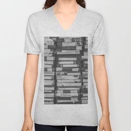 VHS Retro (Black and White) Unisex V-Neck