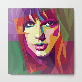 Taylor in WPAP Metal Print