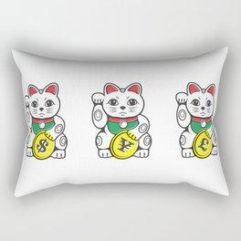 Maneki Neko (Japanese Beckoning Cat) Rectangular Pillow