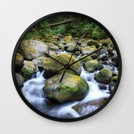 Oneonta Creek Cascades Wall Clock