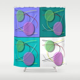 Abstract 50's style - 001 Shower Curtain