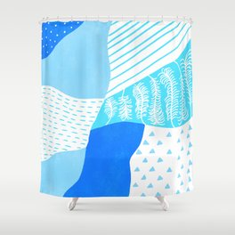 frankie, blue Shower Curtain