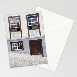 Building and street. La Palma, Canary Island. Stationery Cards