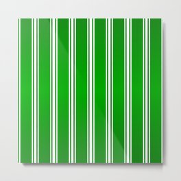 Racing Green Stripes Metal Print