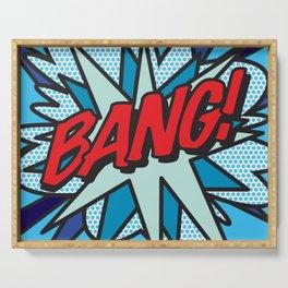 Comic Book Pop Art BANG! Serving Tray