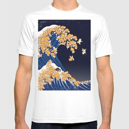 Shiba Inu The Great Wave in Night T-shirt
