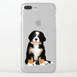 Bernese mountain dog puppy Clear iPhone Case