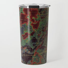 Pillager old map year 1916, american old maps Travel Mug