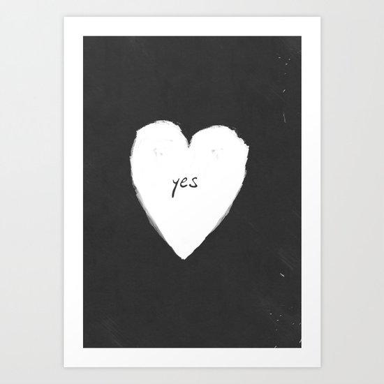 yes! Art Print