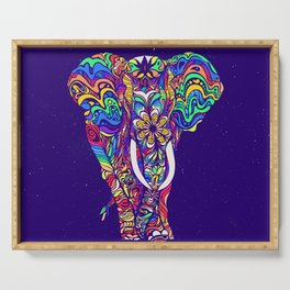 Not a circus elephant #violet by #Bizzartino Serving Tray