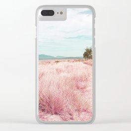 Coastal trail - blush Clear iPhone Case