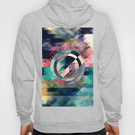 Colorful Grunge Geometric Abstract Hoody
