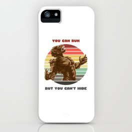 Sunset Werewolf / You Can Run But You Can't Hide iPhone Case