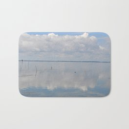 Picture Perfect Blue Sky Water Bay Scene Landscape  Bath Mat
