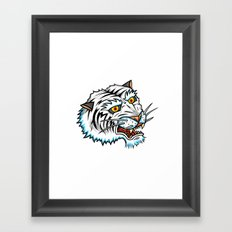 Traditional White Bengal Tiger Framed Art Print